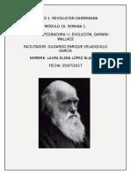 Actividad integradora  Evolución, Darwin-Wallace