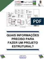 Quais Informações Preciso Para Fazer Um Projeto Estrutural