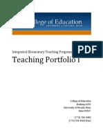 Ietp Portfolio Guidelines