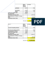 Electricity Charge Workings