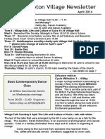 140330 Quidhampton Village Newsletter April 2014