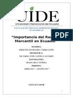 Importancia Del Registro Mercantil en Ecuador