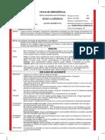 FICHA de EMERGENCIA Acido Cloridrico Muriatico Rev 16 0814