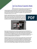 Pengertian Dan Cara Kerja Capacitor Bank