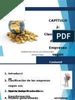 Administracion de operaciones CAPITULO II Clasificacion de Las Empresas