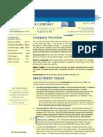 Coca Cola Investment Report 2015.8.25