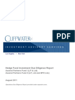 Ascend Hedge Fund Investment Due Diligence Report 0811Redacted