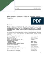 NCh0186!1!1986, Fibro-cemento - Planchas - Parte 1, Planchas Planas, Requisitos.