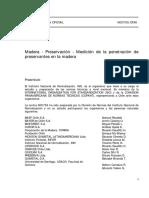 NCh0755-1996; Madera - Preservación - Medición de La Penetración de Preservantes en La Madera.