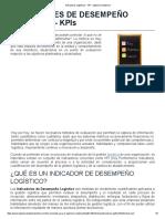 Indicadores Logísticos - KPI - Ingeniería Industrial