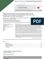 Right Hemicolectomy Plus Pancreaticoduodenectomy vs Partial Duodenectomy - Cirocchi2014
