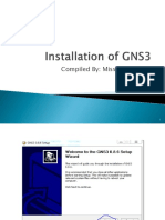 Installation of GNS3