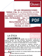 La Vocación, La Vida Académica y La Ética Profesional