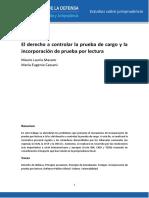 El derecho a controlar la prueba de cargo y la incorporación de prueba por lectura.pdf
