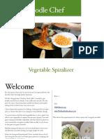 Zoodle Chef ERecipe Book 1