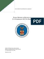 Informe Del Departamento de Trabajo de EEUU