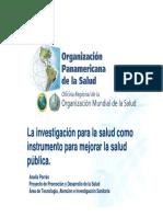 La Investigacion Para La Salud
