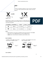 Hebrew U-Type Vowels