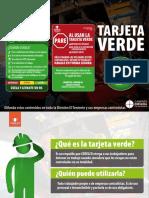 Tarjeta Verde Prevsis