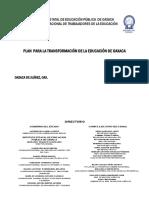 Plan Transformación Educación Oaxaca PTEO_IEEPO-SNTE 2012