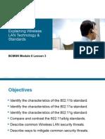BCMSN Module 6 Lesson 3 WLAN Standards_edited