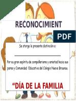 Diploma de La Familia