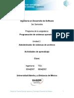 Unidad 2 Actividades de Aprendizaje DPSO