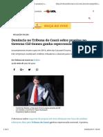 Denúncia No Tribuna Do Ceará Sobre Propina No Governo Cid Gomes Ganha Repercussão Nacional