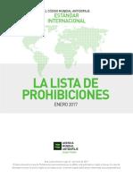 Lista Prohibida Sustancias Dopantes 2017 Wada