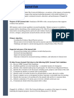journal club checklist revised