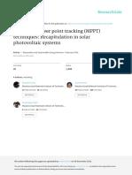MPPT Recapitulation Elsevier