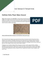 Definisi Sirtu Pasir Batu Gravel _ JualBatuSplit