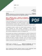 História Da Educação - 001 - Fórum - Danilo
