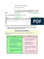 Y12 Harmony Lesson 2 Student Sheet