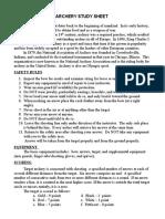 archery study sheet