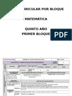 1.2 Plan Curricular Por Bloques Matematicas 5to Año