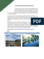 Caracteristicas de Rugosidad Para Canales Naturales
