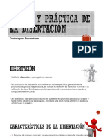 Teoría y Práctica de La Disertación