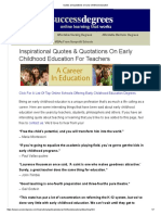 Quotes and Quotations on Early Childhood Education