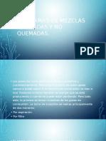 Diagramas de Mezclas Quemadas y No Quemadas