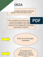 CORRIENTES PSICOLOGICAS- PSICOLOGIA