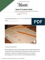 the myth of im bad at math - the atlantic