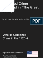 the great gatsby - oraganized crime in the 1920s