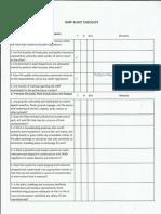 FDA GMP Checklist