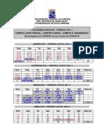 Calendario 2011-1 UFPB Aprov Consepe Campi I II III
