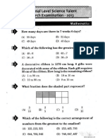 NSTSE Class III Question Paper 2013-1