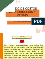 Estado de Costos de Producción