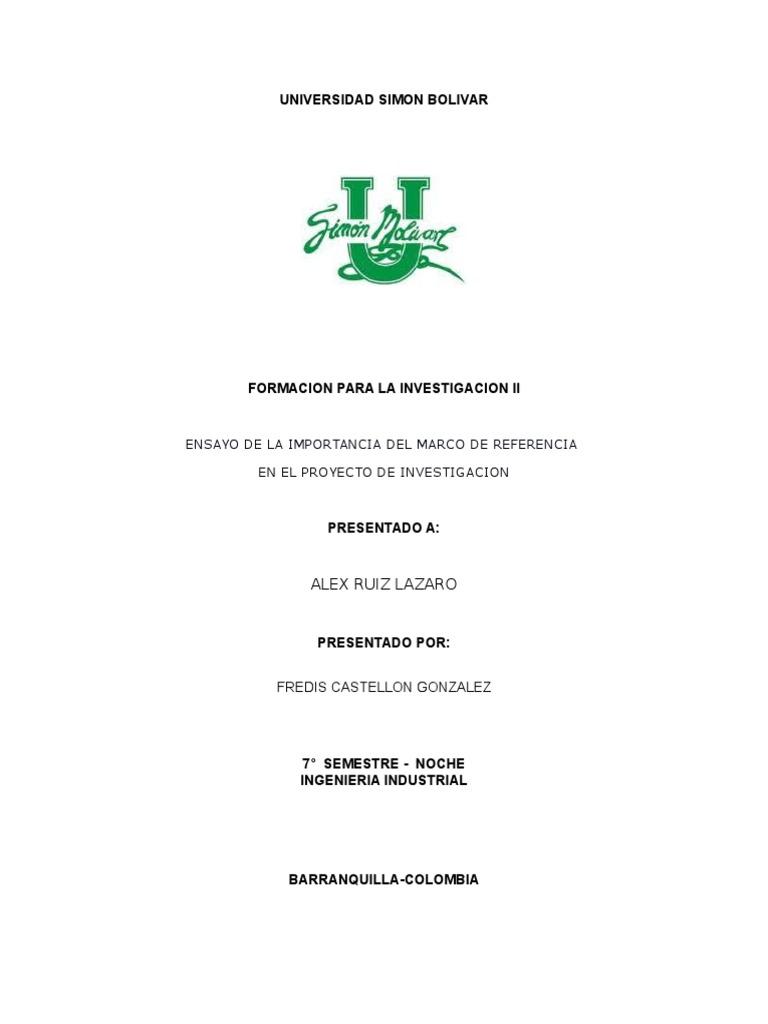 Ensayo Formacion Para La Investigacion II Fredis Castellon