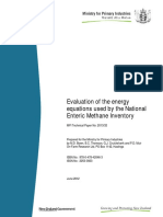 New Zealand 2. Evaluation of the Energy Equations Used by the National Enteric Methane Inventory Basado en CSIRO