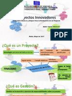 Proyectos Innovadores (conceptos básicos y etapas para la realización de un proyecto)